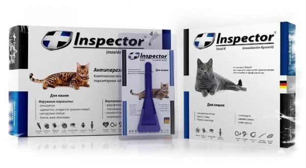 Лекарство от глистов для кошек инспектор